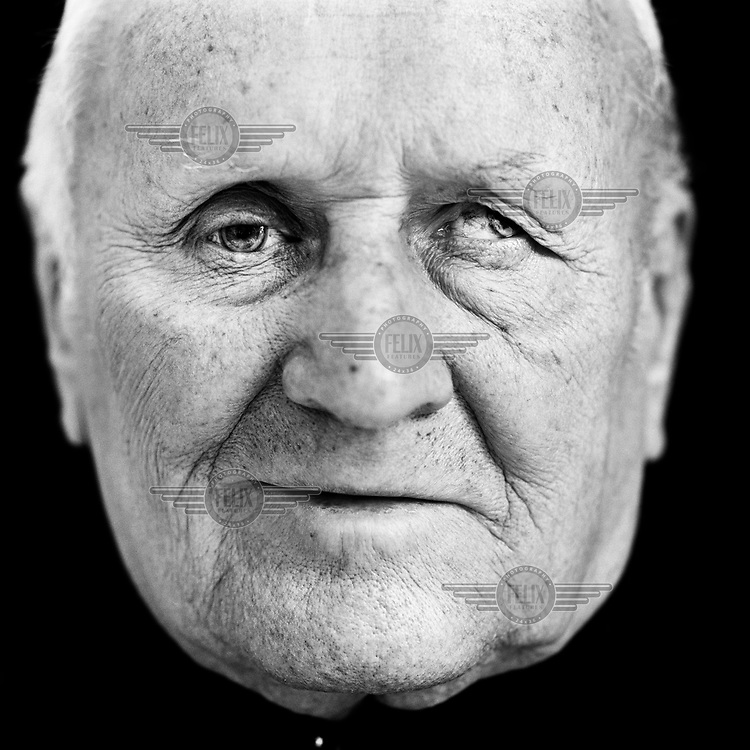 """Theodor Schafers (b. Germany, 1926), blinded veteran from the Second World War (WWII). """"Three of us had to map out the location of the landmines that our troops had laid. That was in 1944 in Poland, in the Carpathian Mountains. When we had finished, we went to smoke a cigarette with the guys in the machine gun nest. When we arrived, the post came under attack from the Russians. We found ourselves in the middle of the fighting and I got a grenade fragment in my right eye. After treatment in the hospital I was sent back to the front in Mecklenburg as a one-eyed soldier. During combat with the Russians I fired into their trenches. I looked to see if there were survivors. There was one. He threw a grenade. I saw it rolling towards me but it was too late for me to jump out of the way. When it exploded, I fell on the ground and could see nothing. But it was not as bad as it appeared. There were small splinters in my left eye and I could see again after four weeks. Again I was deployed as a soldier. After the war I worked as a carpenter. My colleague stood next to me sawing a tree with a circular saw. A branch flew off the tree directly into my left eye. I was blind immediately. What bad luck, no? Apart from my pension I receive a monthly benefit for each eye. For my right eye I get 200 euros from a fund for war victims. For my left eye I receive a benefit for work related accidents from the Union of 1,610 euros. Actually with one eye I was not allowed to work as a carpenter. But after the war you took every job you could get."""".. CHECK with MRM/FNA"""