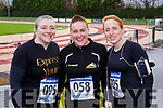 Koren O'Brien Tralee, Norette Riordan and Michelle Knee Gneeveguilla at the Run Rudolph Run in Castleisland on Sunday