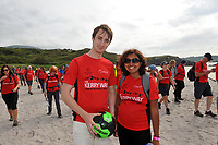 8-7-2017: Liam Tremble and Philana Fernandes from Cork pictured walking on Derrynane Strand in County Kerry on Saturday in the Kerry Way Walk in aid of Breakthrough Cancer Research. The three day charity walk around South Kerry attracts walkers from all over Ireland and has raised over &euro;670,000 in its 14 year history.<br /> Photo Don MacMonagle<br /> <br /> Repro free photo breakthrough cancer research