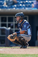 West Michigan Whitecaps catcher Brady Policelli (6) gives the signs during a game against the Quad Cities River Bandits on July 23, 2018 at Modern Woodmen Park in Davenport, Iowa.  Quad Cities defeated West Michigan 7-4.  (Mike Janes/Four Seam Images)