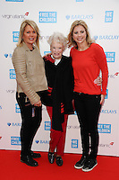 Holly Branson with Mother and Grandmother at the We Day UK 2014 at Wembley Arena,  London. 07/03/2014 Picture by: Steve Vas / Featureflash
