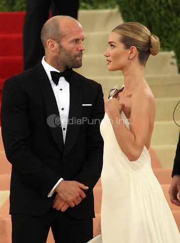 05 02 2016:  Jason Statham, Rosie Huntington-Whiteley  at Manus X Machina: Fashion In An Age of Technology at Metropolitan Museum of Art in New York. Credit:RWMediaPunch