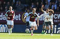 Burnley's Ashley Barnes and Manchester United's Marouane Fellaini<br /> <br /> Photographer Stephen White/CameraSport<br /> <br /> The Premier League - Burnley v Manchester United - Sunday 23rd April 2017 - Turf Moor - Burnley<br /> <br /> World Copyright &copy; 2017 CameraSport. All rights reserved. 43 Linden Ave. Countesthorpe. Leicester. England. LE8 5PG - Tel: +44 (0) 116 277 4147 - admin@camerasport.com - www.camerasport.com