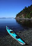 Sea kayak at Spring Bay on Orcas Island