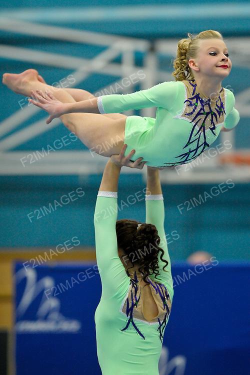 24.03.2012 Gymnastics, British Acrobatics Championships.Hannah Mellor, Erica Bayliss..South Staffs