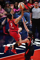 Washington, DC - Sept 17, 2019: Washington Mystics guard Natasha Cloud (9) goes up for a lay up during WNBA Playoff semi final game between Las Vegas Aces and Washington Mystics at the Entertainment & Sports Arena in Washington, DC. The Mystics hold on to beat the Aces 97-95. (Photo by Phil Peters/Media Images International)