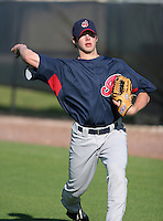 Cleveland Indians minor leaguer Nathan Bunton during Spring Training at the Chain of Lakes Complex on March 17, 2007 in Winter Haven, Florida.  (Mike Janes/Four Seam Images)