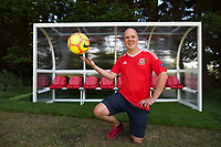 2017 08 31 Lotto millionaire builds football pitch in his back garden, Wales, UK