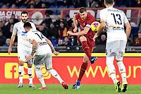 Edin Dzeko of AS Roma , Alessandro Dejola of Lecce , Luca Rossettini of Lecce <br /> Roma 23/02/2020 Stadio Olimpico <br /> Football Serie A 2019/2020 <br /> AS Roma - Lecce<br /> Photo Andrea Staccioli / Insidefoto
