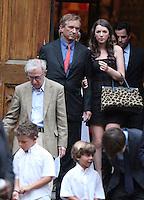 June 30, 2012  Woody Allen, Robert Kenndy Jr., Kyra Kennedy,  attend the Alec Baldwin and Hilaria Thomas Wedding Day at Basilica of St. Patrick's Old Cathedral in Little Italy in New York City.Credit:© RW/MediaPunch Inc. /*NORTEPHOTO.COM*<br /> *SOLO*VENTA*EN*MEXiCO* *CREDITO*OBLIGATORIO** *No*Venta*A*Terceros* *No*Sale*So*third* ***No Se*Permite*Hacer*Archivo** *No*Sale*So*third*©Imagenes con derechos de autor,©todos reservados. El uso de las imagenes está sujeta de pago a nortephoto.com El uso no autorizado de esta imagen en cualquier materia está sujeta a una pena de tasa de 2 veces a la normal. Para más información: nortephoto@gmail.com* nortephoto.com.