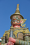 Yaksha Guardians within the Grand Palace and Wat Phra Kaeo complex in Bangkok, Thailand