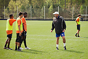 Colin Clarke, the new coach of the Carolina Railhawks, at practice, Wednesday, March 28, 2012.