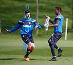 27.04.2018 Rangers training: Jamie Murphy and Alfredo Morelos