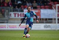 Michael Harriman of Wycombe Wanderers during the Sky Bet League 2 match between Leyton Orient and Wycombe Wanderers at the Matchroom Stadium, London, England on 1 April 2017. Photo by Andy Rowland.