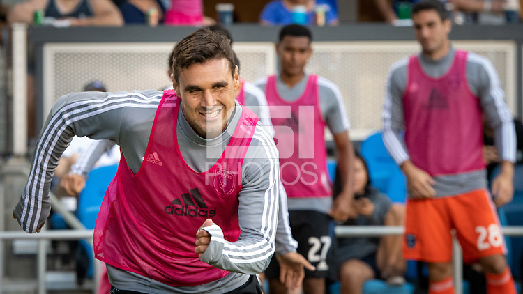 San Jose, CA - Saturday August 03, 2019: Chris Wondolowski #8 in a Major League Soccer (MLS) match between the San Jose Earthquakes and the Columbus Crew at Avaya Stadium.