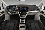 Stock photo of straight dashboard view of a 2018 Chrysler Pacifica LX 5 Door Mini Van
