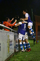 Barrow players celebrate their second goal during Braintree Town vs Barrow, Vanarama National League Football at the IronmongeryDirect Stadium on 1st December 2018