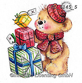 CHRISTMAS ANIMALS, WEIHNACHTEN TIERE, NAVIDAD ANIMALES, paintings+++++,KL6145/5,#xa#