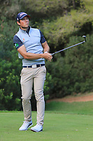 Rhys Enoch (WAL) on the 5th tee during Round 3 of the Challenge Tour Grand Final 2019 at Club de Golf Alcanada, Port d'Alcúdia, Mallorca, Spain on Saturday 9th November 2019.<br /> Picture:  Thos Caffrey / Golffile<br /> <br /> All photo usage must carry mandatory copyright credit (© Golffile | Thos Caffrey)