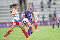 Orlando, FL - Saturday July 01, 2017: Vanessa Di Bernardo, Alanna Kennedy during a regular season National Women's Soccer League (NWSL) match between the Orlando Pride and the Chicago Red Stars at Orlando City Stadium.