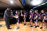 CLAYTON, MO - APRIL 14: McKendree University bowlers accept national runners up trophies during the Division I Women's Bowling Championship held at Tropicana Lanes on April 14, 2018 in Clayton, Missouri. Vanderbilt University defeated McKendree University 4-3. (Photo by Tim Nwachukwu/NCAA Photos via Getty Images)