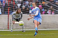 Bridgeview, IL, USA - Sunday, May 1, 2016: Chicago Red Stars defender Katie Naughton (5) during a regular season National Women's Soccer League match between the Chicago Red Stars and the Orlando Pride at Toyota Park. Chicago won 1-0.