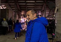 COLUMBUS, OH - NOVEMBER 07: Vlatko Andonovski of the United States waits for the team to leave the locker room during a game between Sweden and USWNT at Mapfre Stadium on November 07, 2019 in Columbus, Ohio.