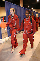 16 December 2006: Stanford Cardinal Kristin Richards and Nji Nnamani during Stanford's 30-27, 26-30, 28-30, 27-30 loss against the Nebraska Huskers in the 2006 NCAA Division I Women's Volleyball Final Four Championship match at the Qwest Center in Omaha, NE.