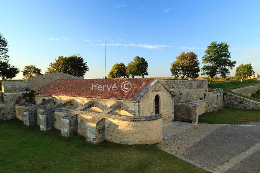 France, Charente-Maritime (17), Hiers-Brouage, citadelle de Brouage, poudrière Saint-Luc // France, Charente Maritime, Hiers Brouage, Citadel of Brouage, gunpowder magazine of Saint Luc