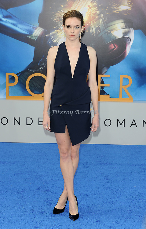 Danielle Panabaker arriving at the Los Angeles world premiere of Wonder Women, held at the Pantages Theatre Hollywood, California on May 25, 2017