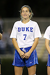 22 November 2013: Duke's Katie Trees. The University of Florida Gators played the Duke University Blue Devils at Koskinen Stadium in Durham, NC in a 2013 NCAA Division I Women's Soccer Tournament Second Round match. Duke won the game 1-0.