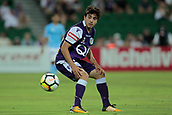 9th January 2018, nib Stadium, Perth, Australia; A League football, Perth Glory versus Melbourne City; Jacob Italiano of the Perth Glory watches the ball during the first half