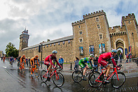 Picture by Alex Whitehead/SWpix.com - 10/09/2017 - Cycling - OVO Energy Tour of Britain - Stage 8, Worcester to Cardiff - Riders travel past the grounds of Cardiff Castle.
