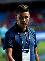CALI - COLOMBIA, 30-09-2018: Dayron Pérez, técnico de Atlético Huila, durante partido entre América de Cali y Atlético Huila, de la fecha 12 por la Liga Aguila II 2018 jugado en el estadio Pascual Guerrero de la ciudad de Cali. / Dayron Perez, coach of Atletico Huila, during a match between America de Cali and Atletico Huila, of the 12th date for the Liga Aguila II 2018 at the Pascual Guerrero stadium in Cali city. Photo: VizzorImage / Nelson Ríos / Cont.