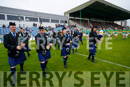 Killorglin Pipe Band before the Senior County Hurling Final in Austin Stack Park on Sunday
