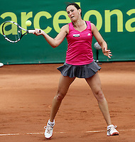 12.04.2012 Barcelona, Spain. WTA Barcelona Ladies Open. Picture show Yuliya Beygelzimer (UKR) at Centre municipal de tennis Vall d'Hebron