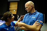 GRONINGEN - Volleybal, Lycurgus - Amriswil, CEV Cup, Martiniplaza , seizoen 2018-2019, 04-12-2018, Amriswil coach Marko Kolk