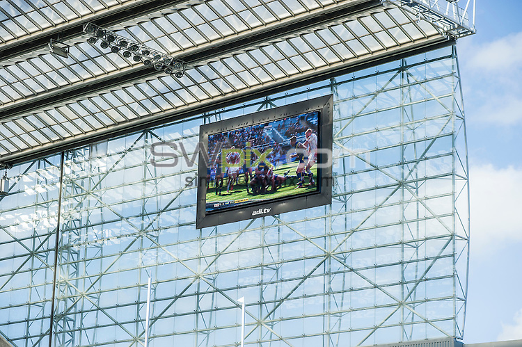 Picture by Allan McKenzie/SWpix.com - 30/05/2015 - Rugby League - First Utility Super League - Magic Weekend - The Brief - St. James's Park, Newcastle, England - Sky screen.