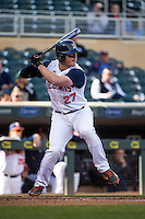 Pat McInerney (27) of the Illinois Fighting Illini bats during the 2015 Big Ten Conference Tournament between the Illinois Fighting Illini and Nebraska Cornhuskers at Target Field on May 20, 2015 in Minneapolis, Minnesota. (Brace Hemmelgarn/Four Seam Images)