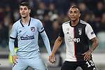 Alvaro Morata of Atletico Madrid and Danilo of Juventus during the UEFA Champions League match at Juventus Stadium, Turin. Picture date: 26th November 2019. Picture credit should read: Jonathan Moscrop/Sportimage