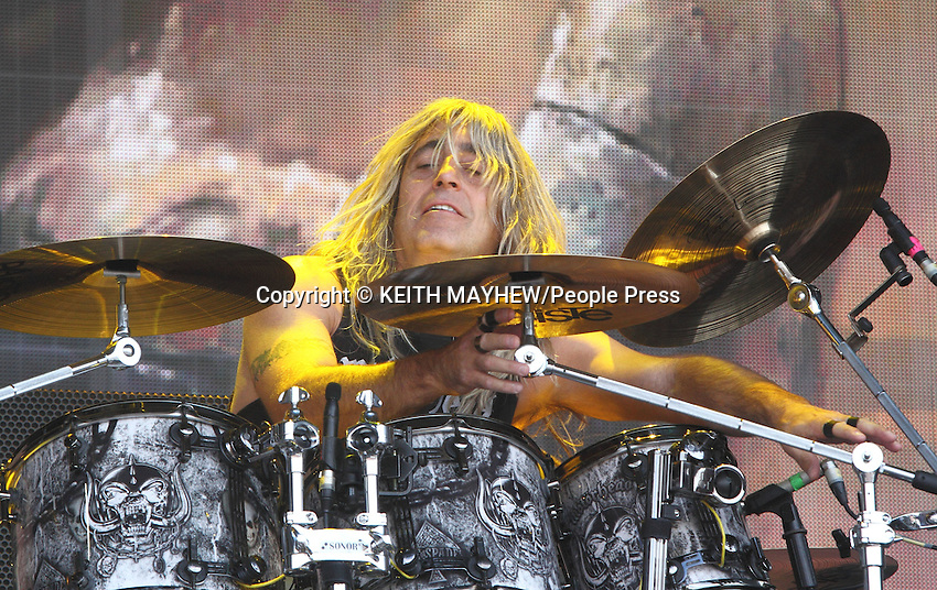 Mikkey Dee of 'Motorhead' performs live at British Summertime, Hyde Park, London on July 4th 2014 <br /> <br /> Photo by Keith Mayhew