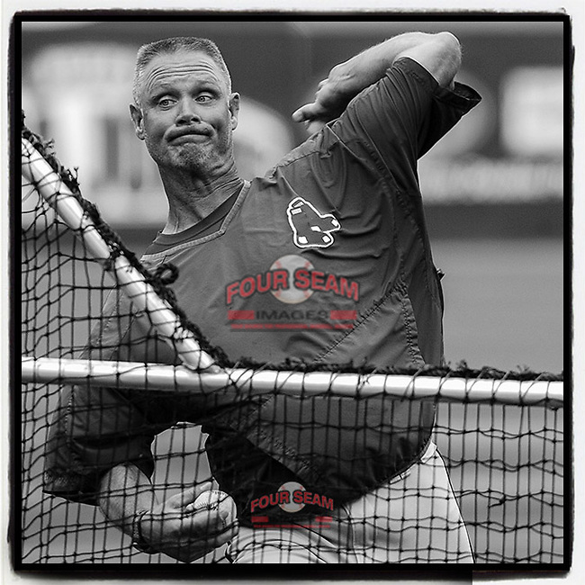 The #RedSox have announced that Bob Kipper will return as @GreenvilleDrive pitching coach for 2019. Here Kipper throws batting practice before a game on May 9, 2006, at Fluor Field in Greenville, S.C. (Tom Priddy/Four Seam Images)<br /> #MiLB #throwbacks https://www.greenvilleonline.com/story/sports/baseball/greenville-drive/2019/01/11/greenville-drive-pitching-coach-kipper-aims-deeper-than-balls-strikes/2541435002/