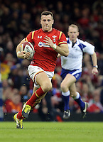 Gareth Davies of Wales makes a run during the Wales v France, 2016 RBS 6 Nations Championship, at the Principality Stadium, Cardiff, Wales, UK
