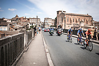 breakaway group rolling through Gaillac<br /> <br /> Stage 11: Albi to Toulouse (167km)<br /> 106th Tour de France 2019 (2.UWT)<br /> <br /> ©kramon