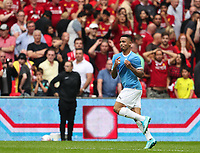 Gabriel Jesus of Manchester City celebrates after scoring the winning penalty during the FA Community Shield match between Liverpool and Manchester City at Wembley Stadium on August 4th 2019 in London, England. (Photo by John Rainford/phcimages.com)<br /> Foto PHC/Insidefoto <br /> ITALY ONLY