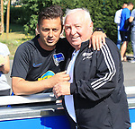 04.09.2019, Sportpark, Berlin, GER, 1.FBL, DFL,, Hertha BSC Training,<br /> DFL, regulations prohibit any use of photographs as image sequences and/or quasi-video<br /> im Bild Cheftrainer (Head Coach) Ante Comic (Hertha BSC Berlin), Uli Wegner (Boxtrainer)<br /> <br />       <br /> Foto © nordphoto / Engler