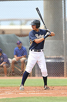 Bryant Aragon (48) of the AZL Padres bats during a game against the AZL Rangers at the San Diego Padres Spring Training Complex on July 4, 2015 in Peoria, Arizona. Padres defeated the Rangers, 9-2. (Larry Goren/Four Seam Images)