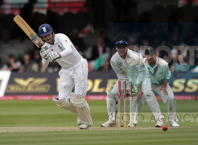 England's Michael Vaughan in action