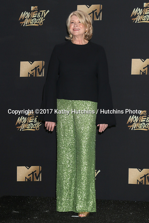 LOS ANGELES - MAY 7:  Martha Stewart at the MTV Movie and Television Awards on the Shrine Auditorium on May 7, 2017 in Los Angeles, CA