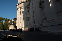 Vatican City, October 13, 2019.  Guests arrive at Vatican to attend a canonization Mass in St. Peter's Square. Pope Francis on Sunday canonized Cardinal John Henry Newman, the 19th-century Anglican convert who became an immensely influential, unifying figure in both the Anglican and Catholic churches. Francis presided over Mass on Sunday in a packed St. Peter's Square to declare Newman and four women saints. (Antonello Nusca/BuenavistaPhoto)